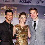 Twilight 4 partie 2 : dernier tapis rouge pour Robert Pattinson, Kristen Stewart et Taylor Lautner ! (PHOTOS)