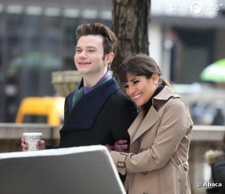 Chris Colfer et Lea Michele super proches sur le tournage de la saison 4 de Glee