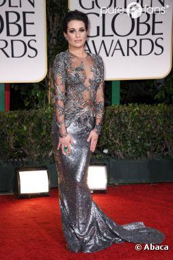 Lea Michele dans une sublime robe métal pour les Golden Globes