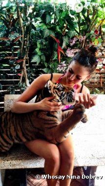 Nina Dobrev est dingue du tigre