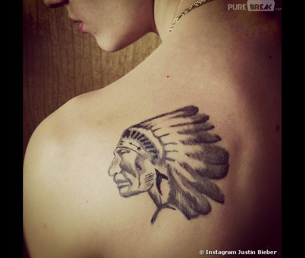 Justin Bieber Son Nouveau Tatouage Indien Une Dedicace Pour Son
