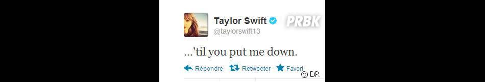 Taylor Swift a posté un drôle de tweet...
