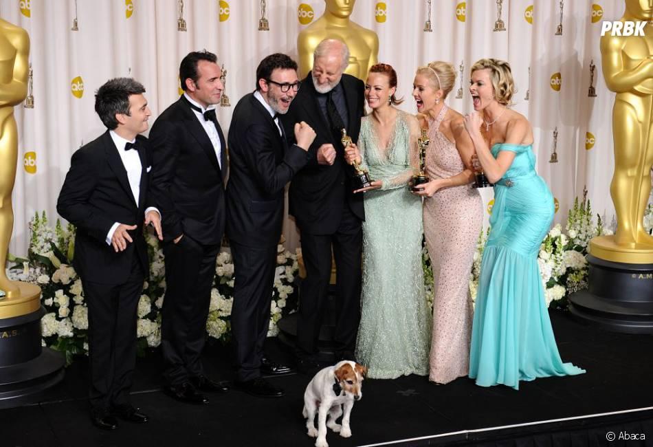 Les acteurs de The Artist ensemble aux Oscars 2012