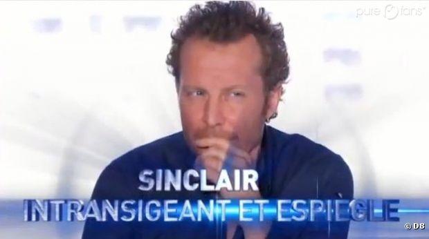 Sinclair est plus cash avec les candidats qu'avec Nicola Sirkis