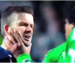 David Beckham face à Brandao