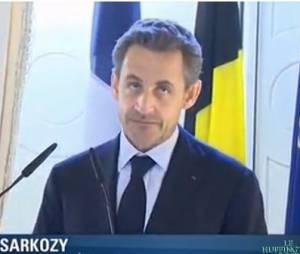 Nicolas Sarkozy en pleine forme à Bruxelles