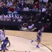 Immonde double fracture ouverte tibia péroné en plein match de basket