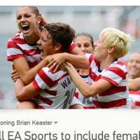 FIFA 14 : bientôt des footballeuses dans le jeu ?