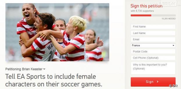 Une pétition pour inclure les femmes dans FIFA 14