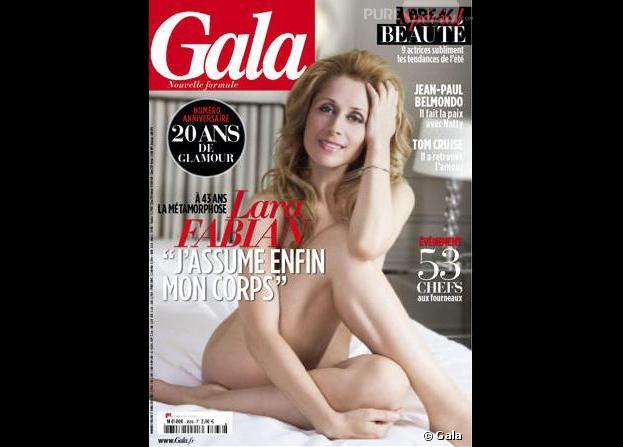 Lara Fabian, nue en Une du magazine Gala du 17 avril 2013