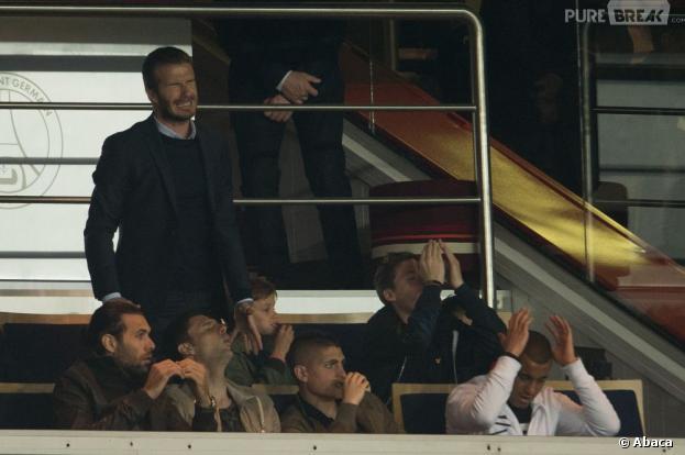 David Beckham à fond pour le PSG, dimanche 5 mai 2013 au Parc des Princes