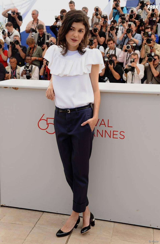 Audrey Tautou, toute mimi pendant le Festival de Cannes 2012