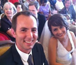 Estelle Denis a tweeté une photo du mariage de Jean-Philippe Doux et de Solène Chavanne