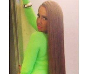 Amber Rose et sa nouvelle perruque de cheveux ultra longs