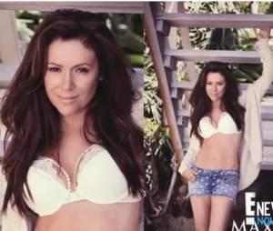 Alyssa Milano sexy à 40 ans pour le magazine Maxim.