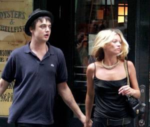 Pete Doherty et Kate Moss dans les rues de NY en septembre 2005