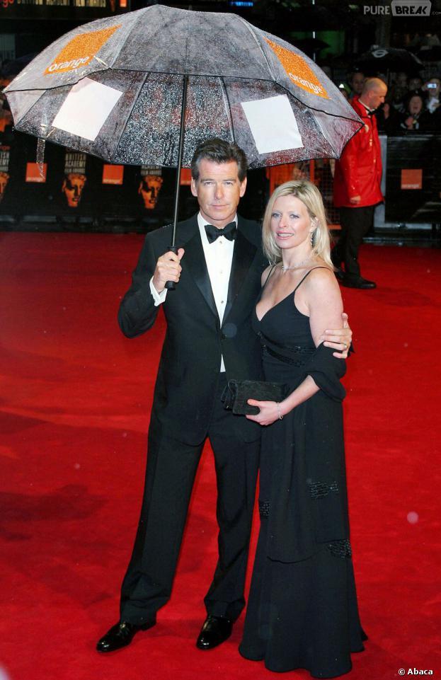 Pierce Brosnan et sa fille Charlotte à Londres en février 2006