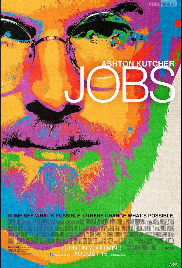 Ashton Kutcher sur le poster de jOBS