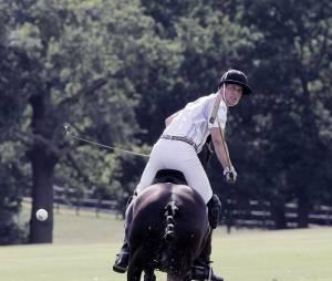 Prince William pendant un match de polo, le 3 août 2013 à Ascot