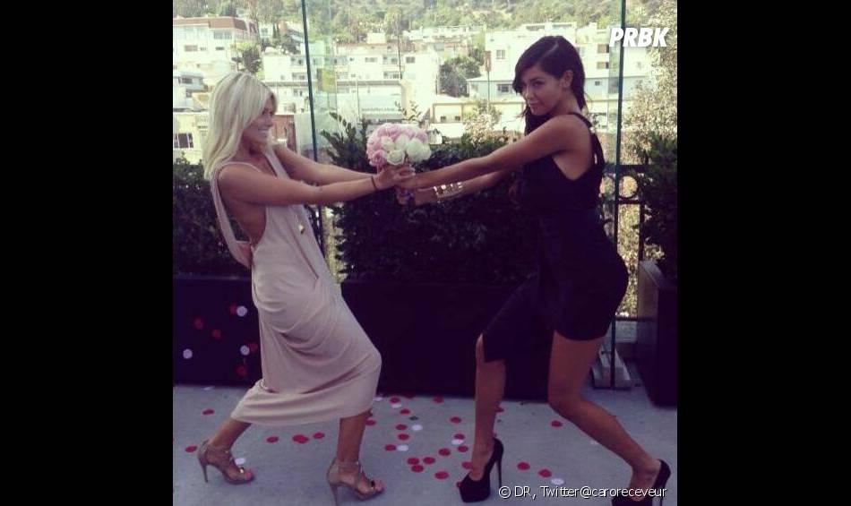 Hollywood Girls 3 : Nabilla Benattia et Caroline Receveur sur le tournage à Los Angeles.