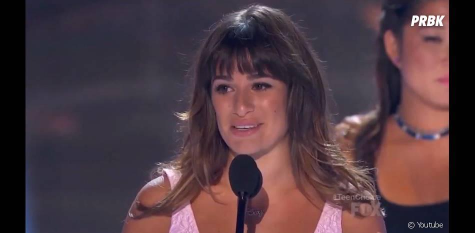 Lea Michele : discours émouvant aux Teen Choice Awards 2013