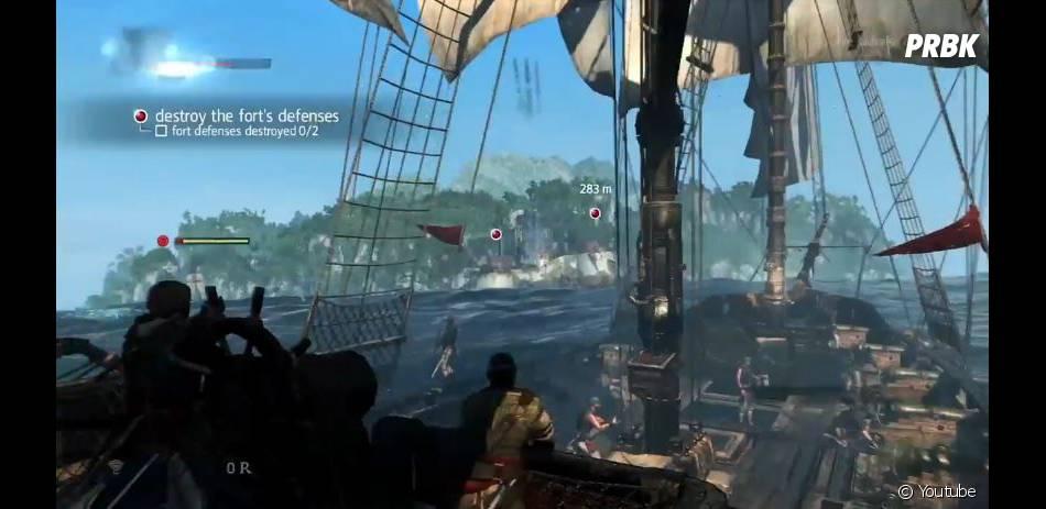 Assassin's Creed 4 Black Flag : Edward Kenway aux commandes de son bateau