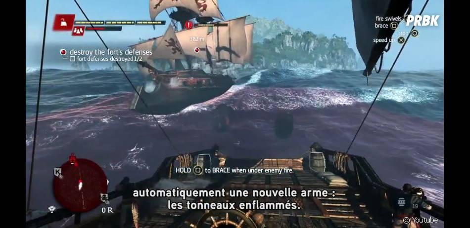 Assassin's Creed 4 Black Flag : les affrontements en pleine mer seront légions