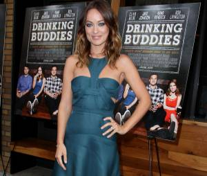 Olivia Wilde en promotion pour Drinking Buddies