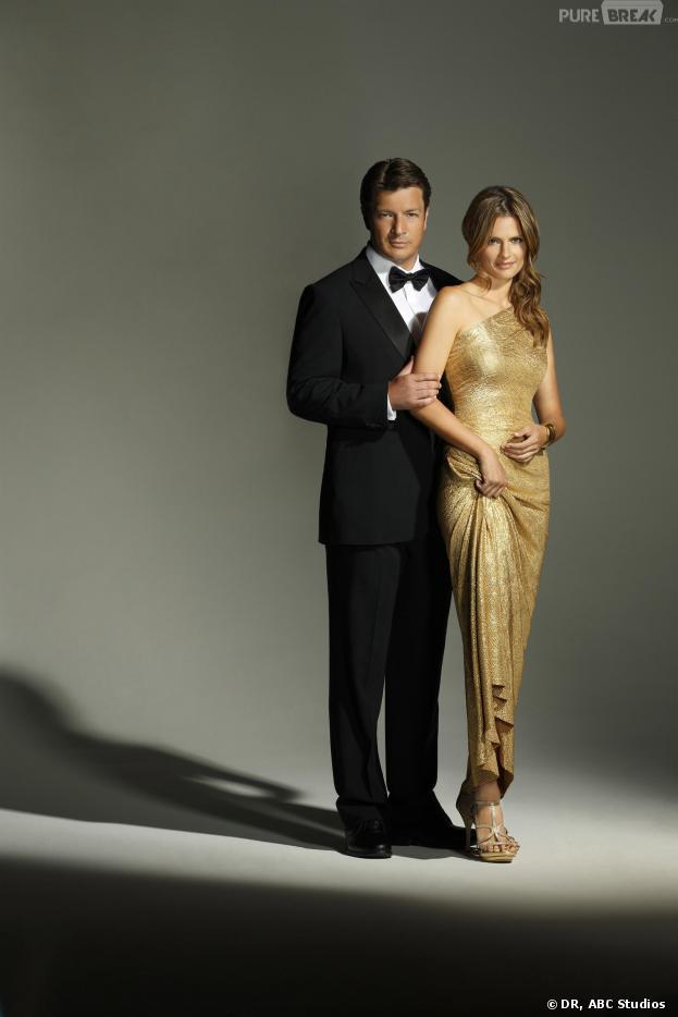 Castle saison 6 : Nathan Fillion et Stana Katic ambiance Feux de l'Amour sur une photo promotionnelle