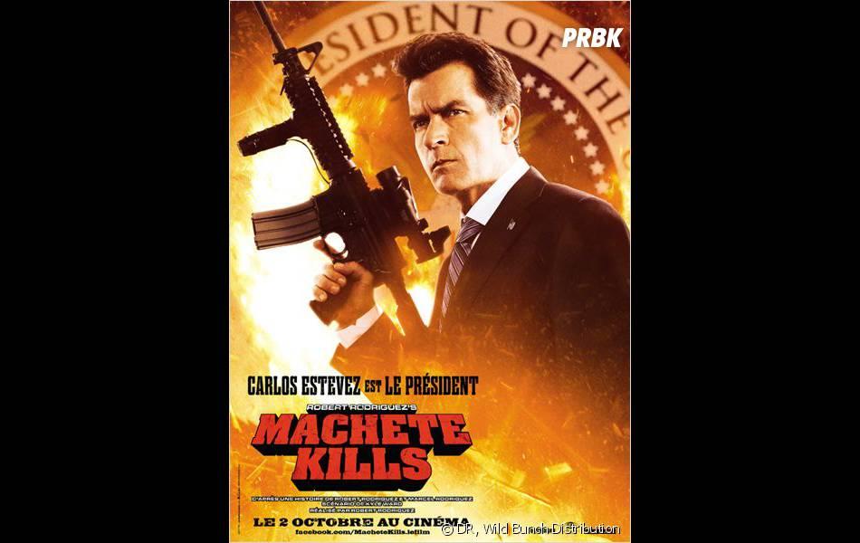 Machete Kills : Charlie Sheen, aka Carlos Estevez, dans le peau du Président