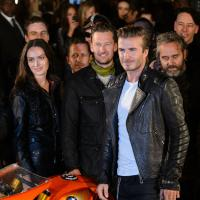 David Beckham : biker sexy pour la Fashion Week de Londres