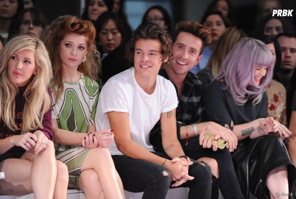 Harry Styles, au défilé House of Holland de la Fashion Week de Londres, le 14 septembre 2013