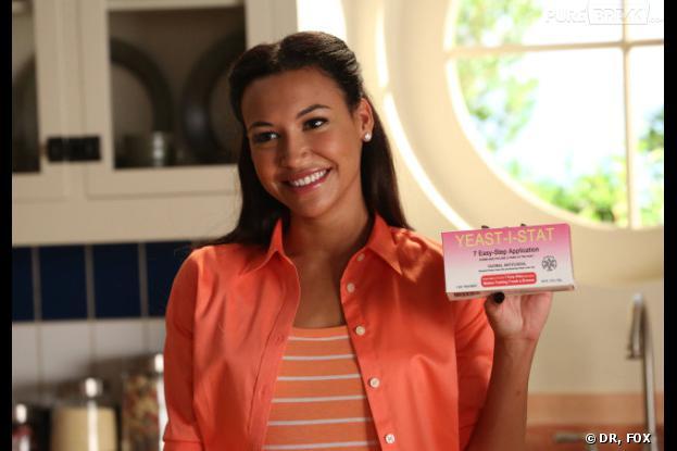 Glee saison 5, épisode 2 : Santana dans une publicité kitsch