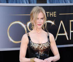 Nicole Kidman sur le tapis rouge des Oscars 2013