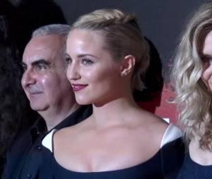 Dianna Agron lors de la première dun film Malavita près de l'aéroport Roissy Charles de Gaulles le 16 octobre 2013.