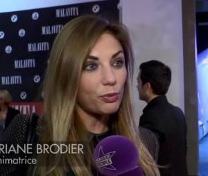 Ariane Brodier lors de la première dun film Malavita près de l'aéroport Roissy Charles de Gaulles le 16 octobre 2013.
