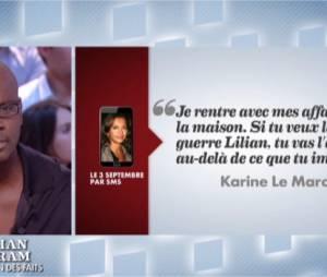 Lilian Thuram s'explique sur l'affaire Karine Le Marchand dans Le Grand Journal sur Canal+ le 17 octobre 2013