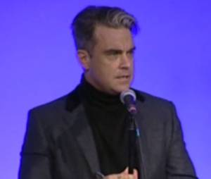 Robbie Williams aux Q Awards le 21 octobre 2013
