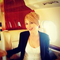 Jennifer Lawrence : cheveux courts pour la promo d'Hunger Games 2