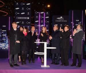 Laetitia Casta illumine les Champs-Elysées, le 21 novembre 2013 à Paris