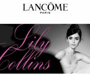 Lily Collins en ballerine au naturel pour Lancôme