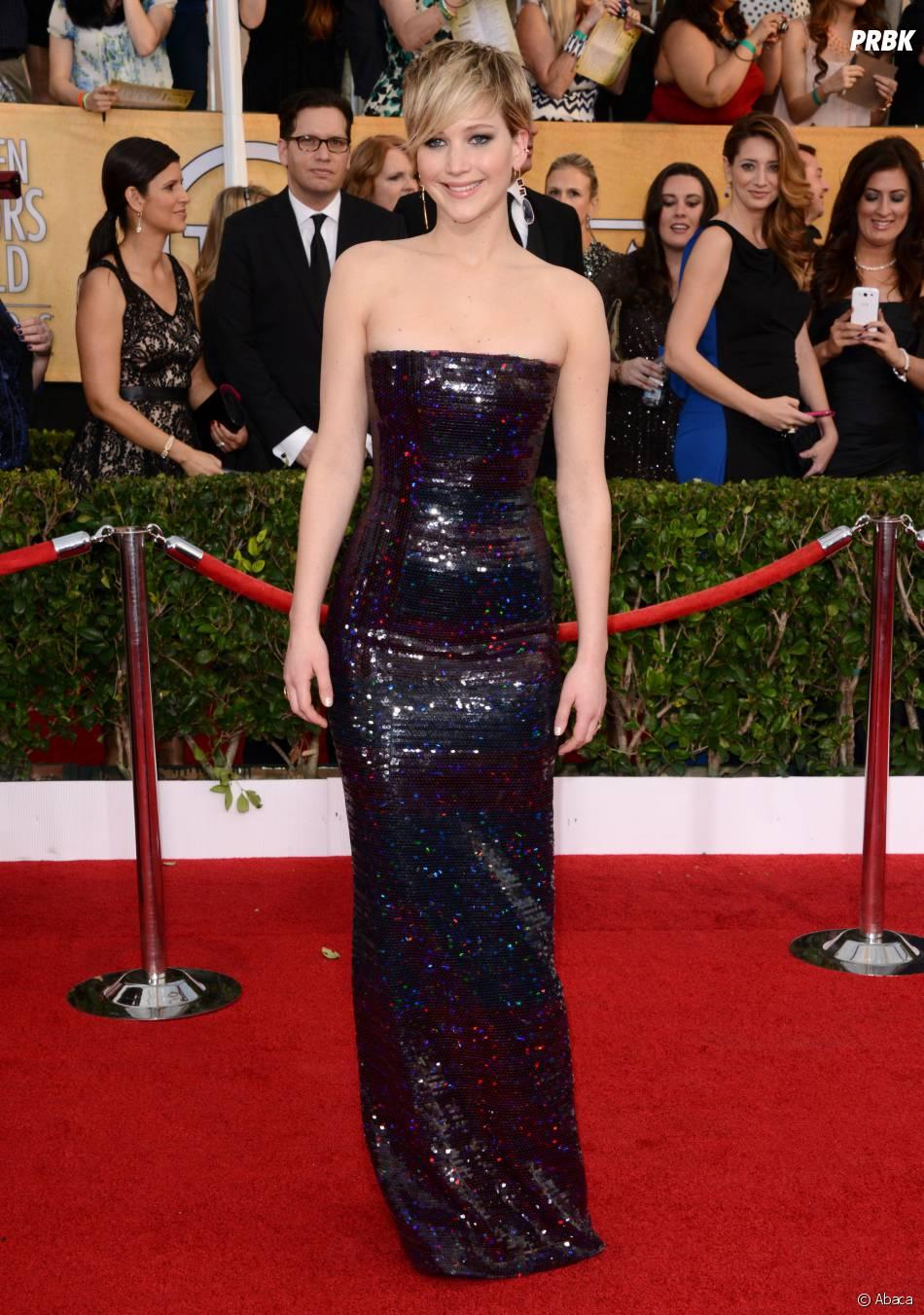 SAG Awards 2014 : Jennifer Lawrence et toute l'équipe d'American Bluff sacrés meilleur casting