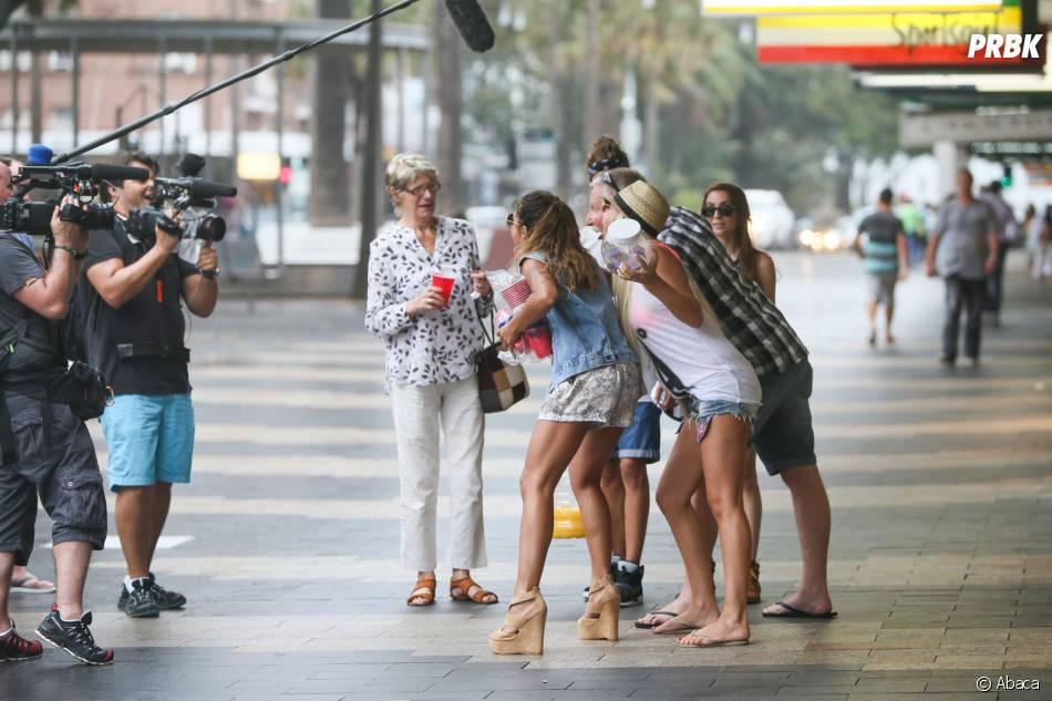 Les Anges de la télé-réalité 6 : Anaïs Camizuli, Amélie Neten, Eddy et Dania font le show en plein Sydney, le 20 janvier 2014