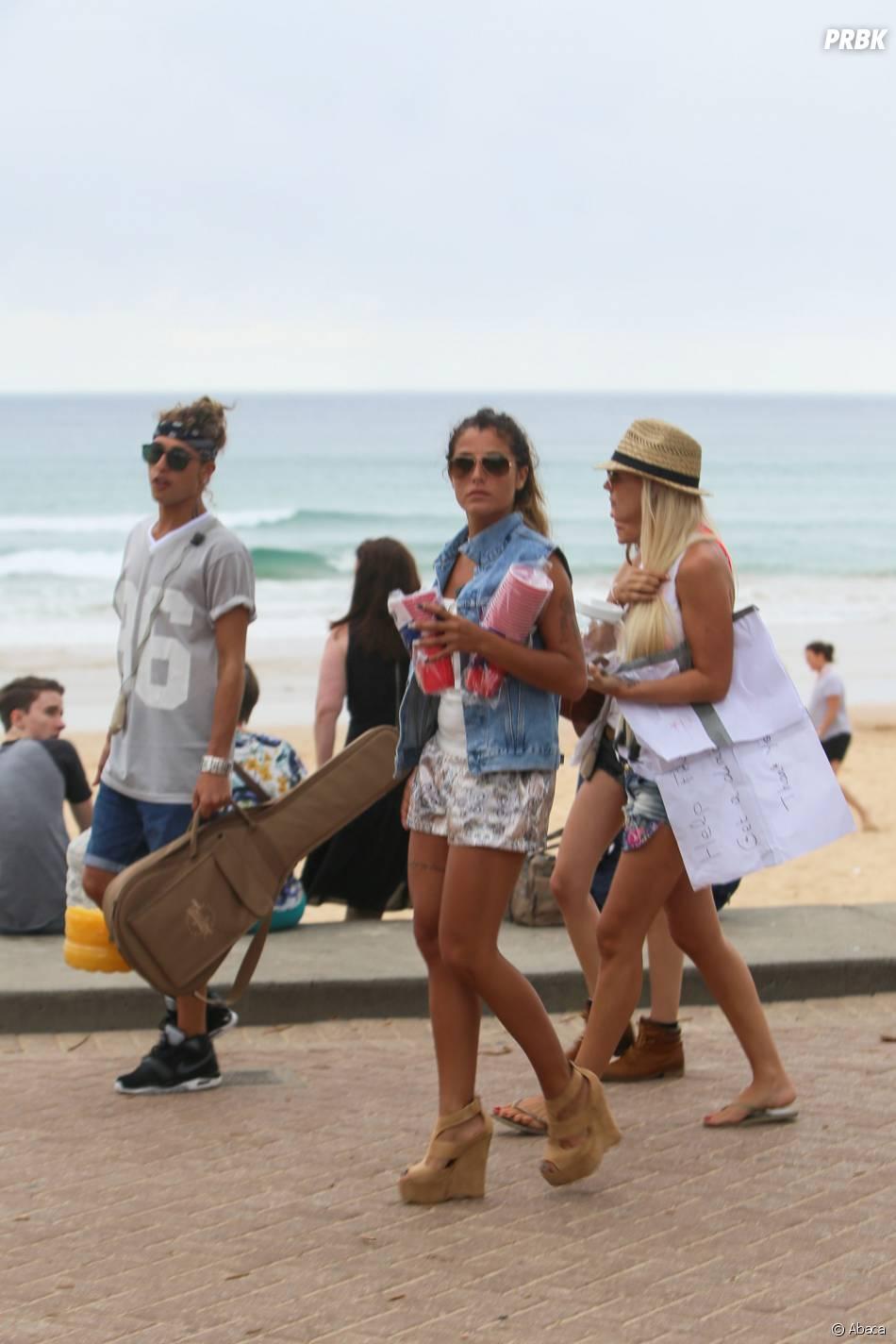 Les Anges de la télé-réalité 6 : Eddy, Anaïs Camizuli et Amélie Neten se baladent à Sydney, le 20 janvier 2014