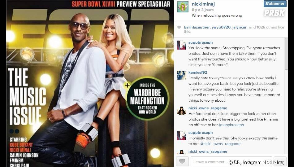 Nicki Minaj : son coup de gueule après avoir été retouchée en Une de ESPN