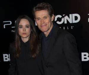 Ellen Page heureuse d'être à la soirée de lancement du jeu Beyond Two Souls le 2 octobre 2013