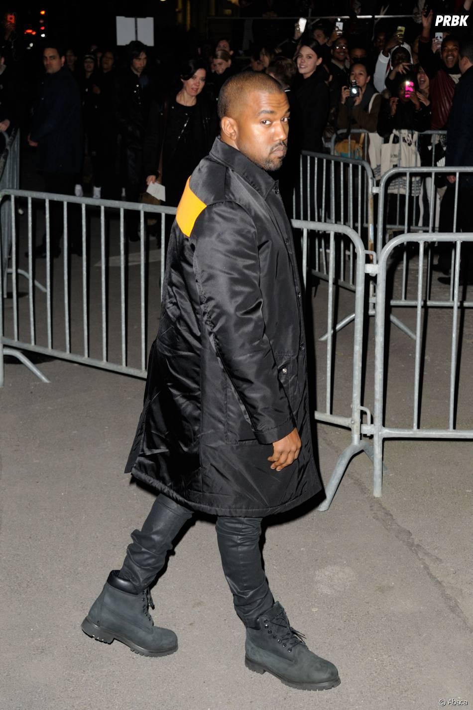 Kanye West au défilé Givenchy pendant la Fashion Week de Paris, le 2 mars 2014