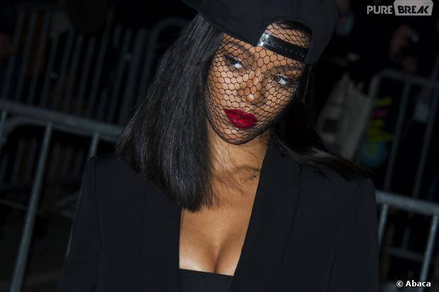 Rihanna au défilé Givenchy pendant la Fashion Week de Paris, le 2 mars 2014