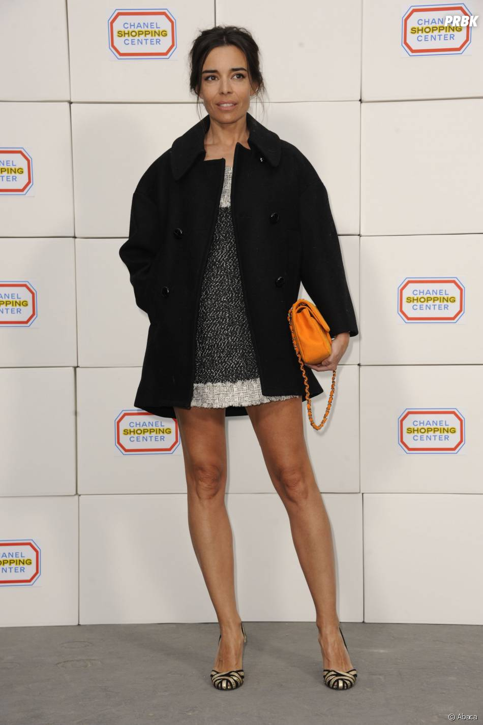 """Elodie Bouchez au défilé Chanel de Karl Lagerfeld dans le """"Shopping Center"""" du Grand Palais, le 4 mars 2014 à Paris"""