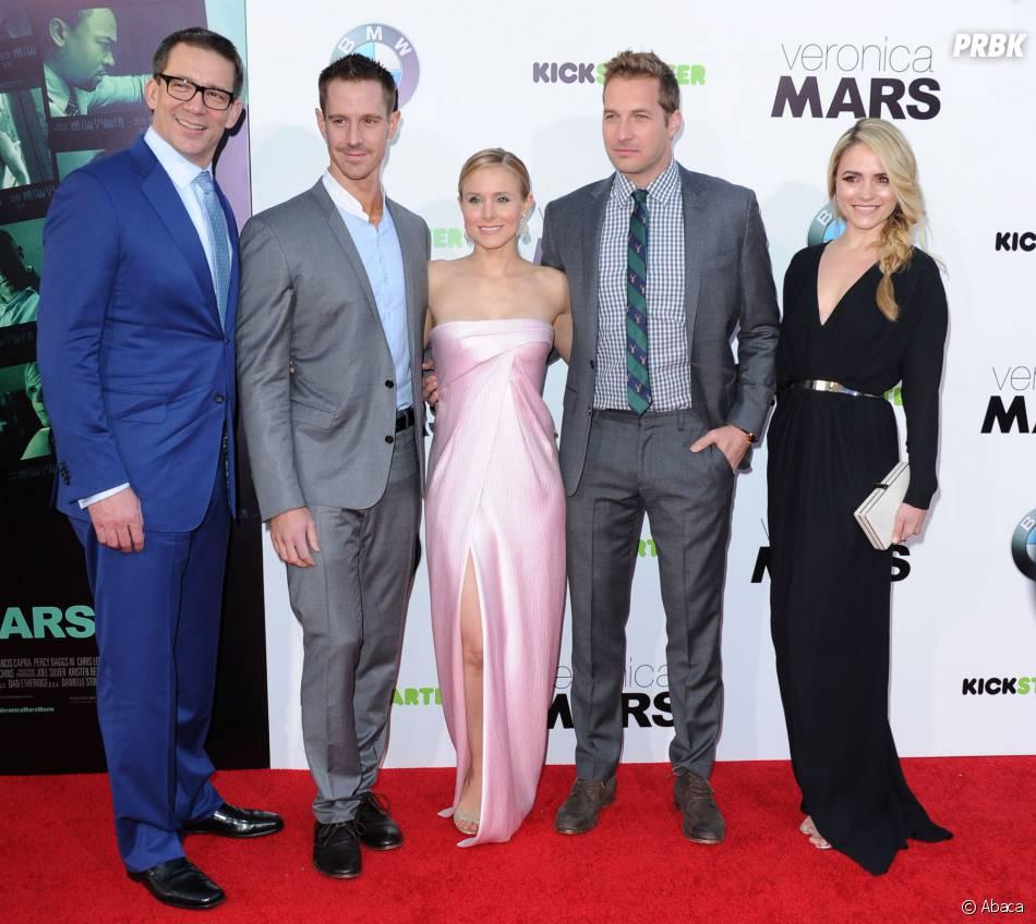 Veronica Mars : Kristen Bell, Rob Thomas, Jason Dohring... l'équipe du film sur le tapis rouge de l'avant-première, le 12 mars 2014